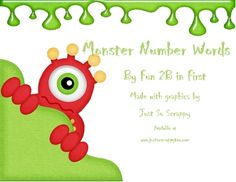 Monster number words