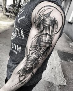 Sketch Arm Tattoo