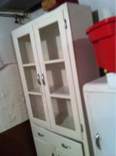 Antique white pantry cabinet - $45 (Media, PA)