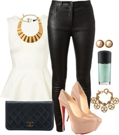 """Peplum"" by feathersandroses ❤ liked on Polyvore"