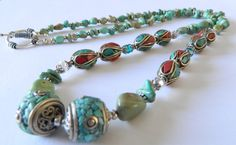 Mexican Campo Frio Turquoise Necklace Turquoise by JuvelerbyLinda, $175.00