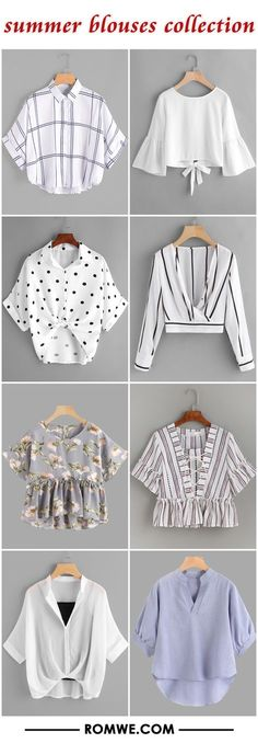 summer blouses collection by letha Girls Fashion Clothes, Teen Fashion Outfits, Mode Outfits, Girl Fashion, Fashion Dresses, Cute Fashion, Ankara Fashion, Crop Top Outfits, Cute Casual Outfits