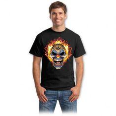 Tricouri cu cranii – Tricou Craniu clown Bad To The Bone, Graphic Design Inspiration, Horror, Mens Tops, Vintage, Choppers, Spirit, Fashion, Moda