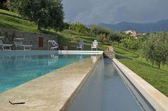 elegante piscina in pietra naturale da Gerusalemme