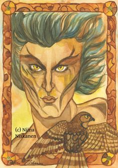 """Ursula K.Leguin´s Wizard of the Earth Sea and it´s sequels are some of my favorite books. This is my painting of Ged/Sparrowhawk who is the main protagonist of the Earth Sea saga. """"He was a man and a hawk before he got this name. Man, hawk, mage and so Watercolor Paper, Watercolor Paintings, Sparrowhawk, Original Artwork, Original Paintings, Brown Art, Yellow Art, Wall Decor, Wall Art"""