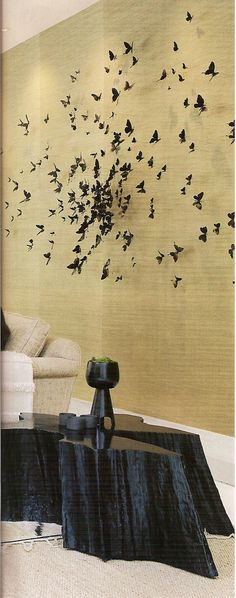 """This Wall art effectively reads """"Nature"""" Butterfly Artwork, Welcome To My House, Perspective Art, Dream Home Design, Beautiful Butterflies, Art Boards, New Art, Louvre, Paper Art"""