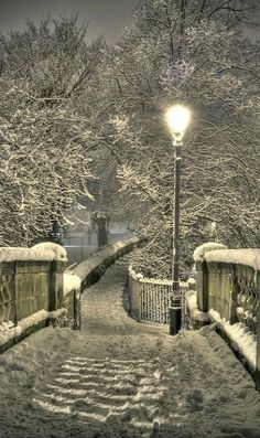 Snowy Night ~ Chester, England