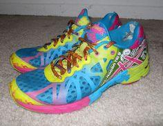 Asics Gel-Noosa Tri 9 Running Shoes T458N Capri Blue Raspberry Lime sz 7 #Asics #RunningCrossTraining