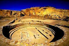 Great Kiva of Pueblo Bonito Ruins, Chaco Canyon New Mexico, photo courtesy Sacred Sites