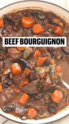 Crockpot Recipes, Soup Recipes, Cooking Recipes, Healthy Recipes, Good Food, Yummy Food, Beef Bourguignon, Beef Recipes For Dinner, Beef Dishes