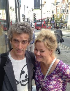 Peter Capaldi and Caroline Rhea