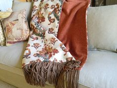 Ikat Throw, Tangerine Orange and Turquoise Blue, Bold and Beautiful Throw, Luxuriously Stunning Blanket, Moroccan Design