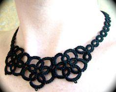 Tatted Spitze Choker Halskette  tückische