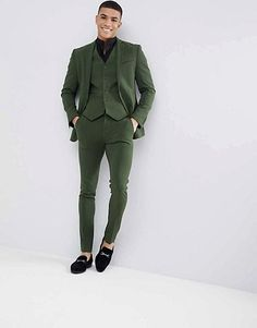 ASOS DESIGN Super Skinny Suit In Khaki