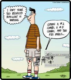 Mosquito Attack Cartoon
