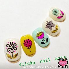 ネイル 画像 flicka nail arts  623516 フラワー ソフトジェル ハンド