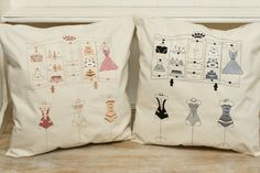 Embroidered cushion. French linen.