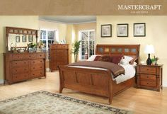 Mission Style Dark Oak Bedroom Collection 12354