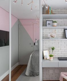 """Outstanding """"bedroom ideas for small rooms"""" info is offered on our web pages. Small Bedroom Designs, Small Room Bedroom, My Room, Girl Room, Bedroom Decor, Small Rooms, Bedroom Ideas, Home Office Layouts, Trendy Home"""