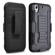 3 in 1 Black Armour Case For HTC Desire 626 Mix Hybrid Protective Silicone PC Phone Cover For HTC Desire 626