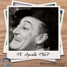 Il #15aprile 1967 si spegne a Roma, l'attore napoletano #AntonioDeCurtis, conosciuto al grande pubblico con il nome di #Totò