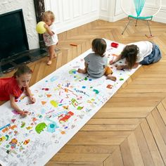 The more the merrier, when children get together they can do a lot of mess or a lot of creative things. Colormy is a giant long coloring page that will make all kids gather around and express themselves. Party Activities, Activities For Kids, Drawing For Kids, Art For Kids, Kid Art, 4 Kids, Magazines For Kids, Kids Corner, Printables