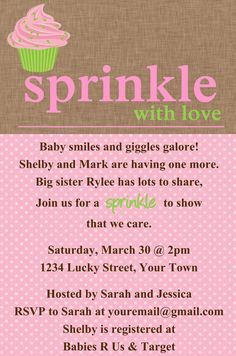 Free Printable Baby Sprinkle Invitations Printabledigital Paper - Sprinkle invitation template