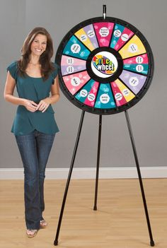 The 12-24 Floor and Table Prize Wheel can include up to 24 prizes and your company logo. Everyone will line up for a chance to win! This spinning wheel game can be fully customized with the Custom Game Gizmo from PrizeWheel.com. Buy it now for $299.99. Christmas Games For Family, Christmas Party Games, Spinning Wheel Game, Prize Wheel, Tarot, After Prom, Carnival Games, Painted Doors, Beach Themes