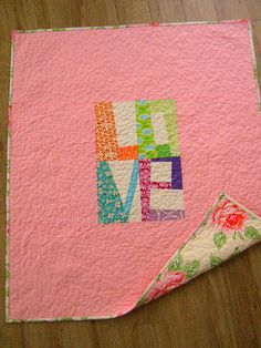 "Baby ""love"" quilt completed!!!"