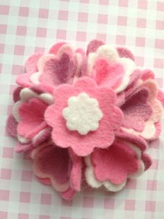 Felt rose by Little Miss Rose