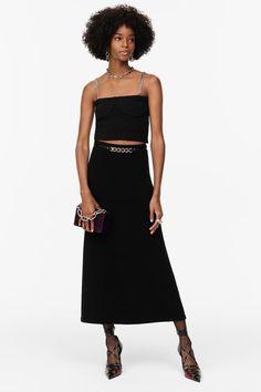 FALDA PUNTO LIMITED EDITION | ZARA España Leather Box, Leather Case, Knit Skirt, Midi Skirt, Mirror Effect, Box Bag, Leather Interior, Knitting, Skirts