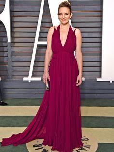 Oscars 2016: All the Dresses You Didn't See | People -Tina Fey in Carolina Herrera
