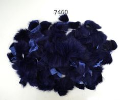 Rabbit Fur Scraps, Real Fur Pieces, Real Fur Pieces, Fur Offcuts for Craft and Sewing Project, Genuine Fur Cuts, Fur Trim, Blue Rabbit Fur