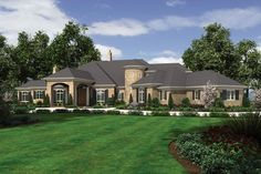 European Luxury Home Fit for Royalty. Plan 2462 The Galloway is a 9787 SqFt European, French Country style home plan featuring Butler's Pantry, Covered Patio, Den, Elevator, Exercise Room, Formal Dining Room, Games Room, His & Hers Closets, Media/Theater Room, Mud Room , Outdoor Kitchen, Port Cochere, Shop, Upstairs Utility Room, Walk-In Pantry, and Wet Bar by Alan Mascord Design Associates. View our entire house plan collection on Houseplans.co.