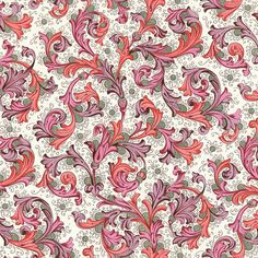 Traditional Italian Florentine Paper in Rich Pinks Cultural Patterns, Ethnic Patterns, Textile Patterns, Vintage Patterns, Flower Patterns, Print Patterns, Pattern Flower, Swirl Design, Art Design