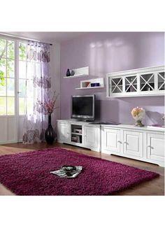 """Perfekt für die Loungezone: der Hochflor-Teppich """"Toronto"""" in modernen Farben - beere"""