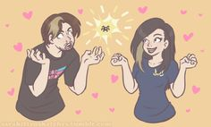 """sarakittensketches: """"Watching Arin and Suzy freak out over Otis was probably the highlight of my day alright """""""