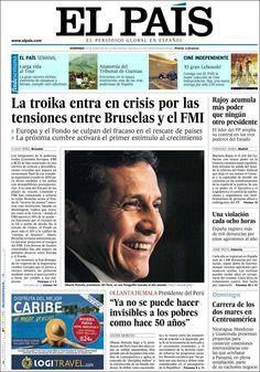Los Titulares y Portadas de Noticias Destacadas Españolas del 23 de Junio de 2013 del Diario El País ¿Que le parecio esta Portada de este Diario Español?
