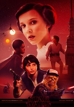 As we not-so-patiently await the second season of Netflix's excellent Stranger Things, take a look at this fan-art, which re-imagines Eleven, Dustin, Will and co. as the main characters from Star Wars...