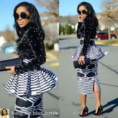Black & White kinda Friday in Have a blissful weekend beautiful people! Latest African Fashion Dresses, African Dresses For Women, African Print Dresses, African Print Fashion, African Prints, African Wedding Attire, African Attire, African Wear, African Outfits