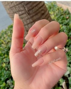 Bling Acrylic Nails, Simple Acrylic Nails, Best Acrylic Nails, Simple Nails, Chic Nails, Trendy Nails, Swag Nails, Long Square Acrylic Nails, Cute Acrylic Nail Designs