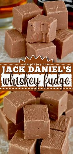 Enjoy chocolate and whiskey combined in one Christmas dessert! Paired with Jack Daniel's, this homemade fudge recipe with condensed milk is delicious. One piece of this quick and easy sweet treat won't be enough! Fudge Recipes, Dessert Recipes, Quick And Easy Sweet Treats, Condensed Milk Recipes, Homemade Fudge, Christmas Desserts, Chocolate Desserts, Cravings, Breakfast