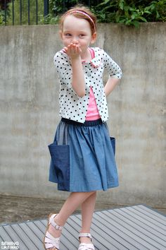 Sewing Like Mad: Aster Cardigan by Willow & Co Patterns/lbg studio + slightly remixed Pip Skirt from Jennuine Design. #sewing