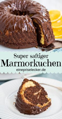 Grandma& fluffy marble cake with cream - with or without orange - a pinch of delicious- Omas fluffiger Marmorkuchen mit Sahne – mit oder ohne Orange – Eine Prise Lecker Juicy and chocolatey, even for several days. Easy Cake Recipes, Healthy Dessert Recipes, Baby Food Recipes, Baking Recipes, Snack Recipes, Dessert Food, Simple Recipes, Brownie Recipes, Cheesecake Recipes
