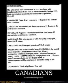 Canadians and Americans...
