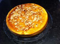 Ginger cheese cake, home made marmalade & roasted almonds topping......