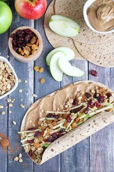 Perfect lunch box recipe (with nut-free ideas, too)! Full of protein, whole grains and fruits - this wrap is fast, easy and adaptable! Our crunchy Peanut Butter Sandwich Wraps are great for on-the-go meals and make-ahead lunches! Change up your peanut but Lunch Box Recipes, Wrap Recipes, Breakfast Recipes, Breakfast Ideas, Sandwich Recipes, Lunchbox Ideas, Sandwich Ideas, Healthy Breakfast Wraps, Apple Sandwich