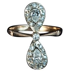 Russian Diamond Bow Ring