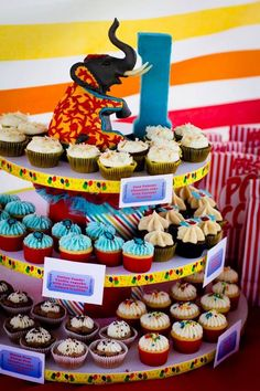 Circus-Themed 1st Birthday Party 08*20*2011 (Print Materials Design, Event Design/Coordination/Support with Penny Blooms Floral Design)