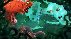 rayman origins.  hand-painted look.  also blurry foreground is a pretty cool idea.  Haven't played it yet though.